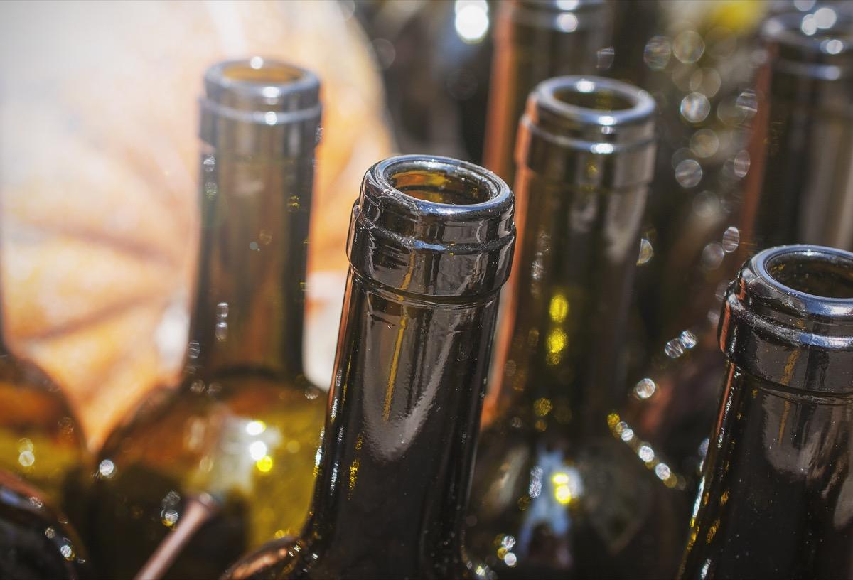 empty beer bottle tops