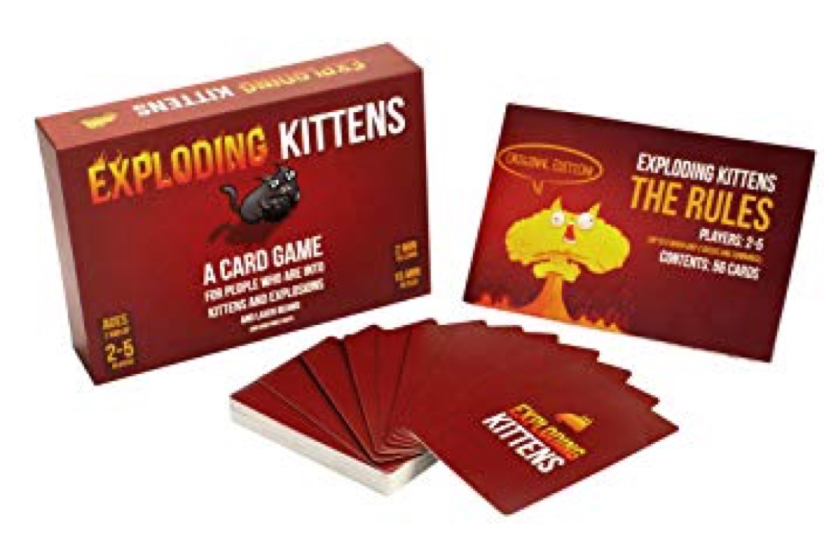 exploding kitten board game from Amazon