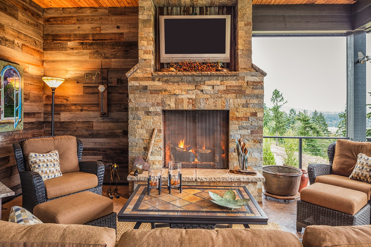 Fireplace in home Affordable ways to remodel your home
