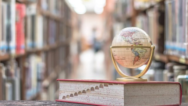 Globe and dictionary