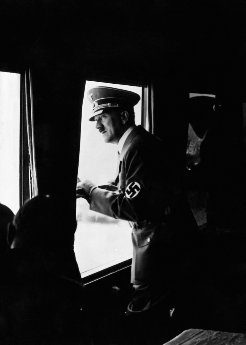 Adolf Hitler, on a 12-hour train trip through Italy, May 1938