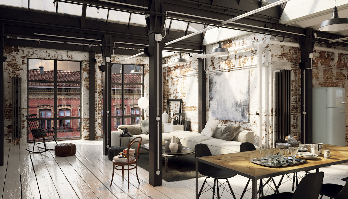 Industrial Style Loft Ohio most popular house styles