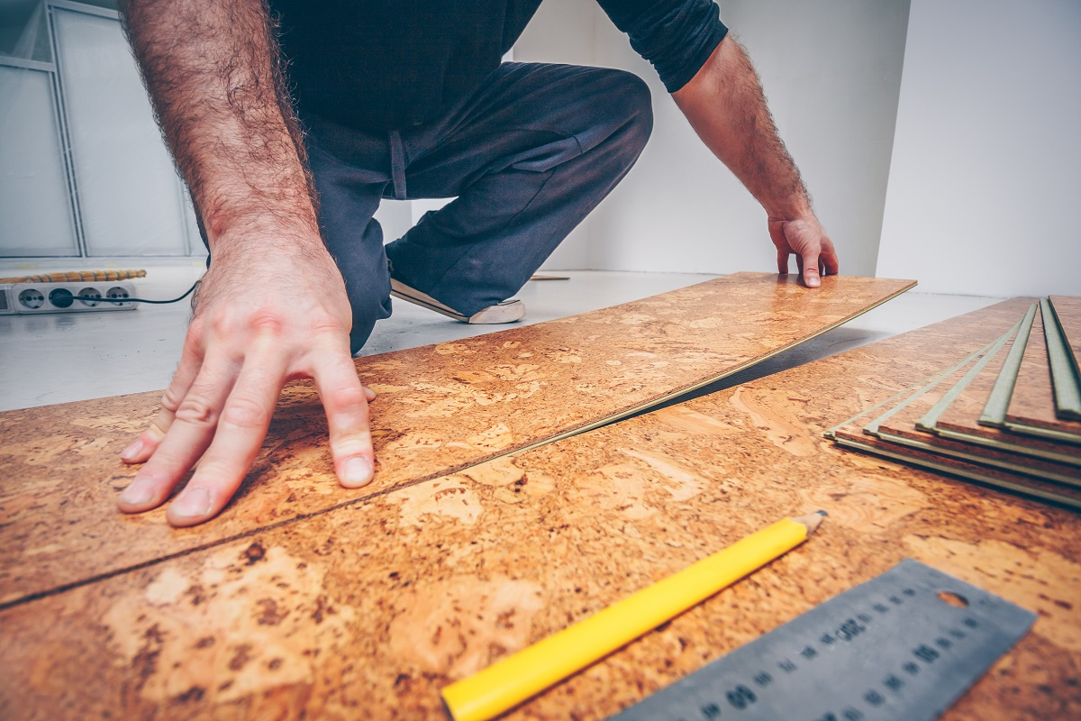 Installing cork flooring Affordable ways to remodel your home