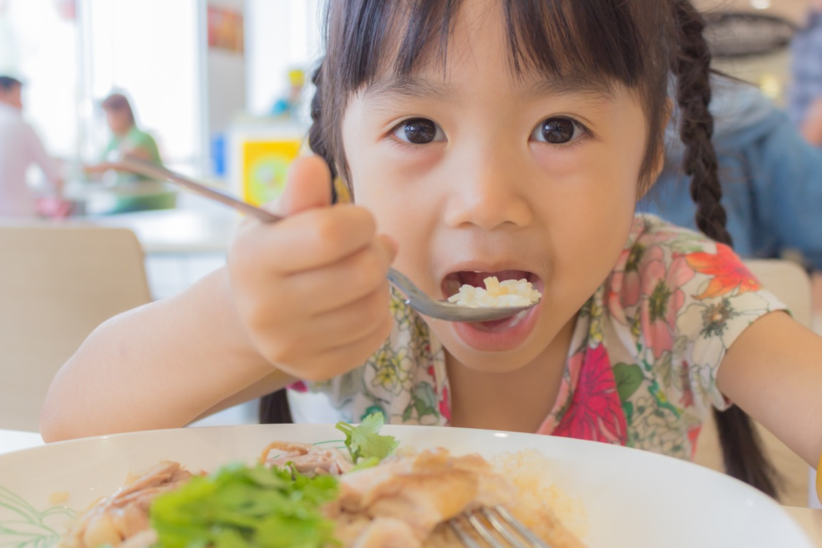 Child Eating in a Food Court, bad parenting advice