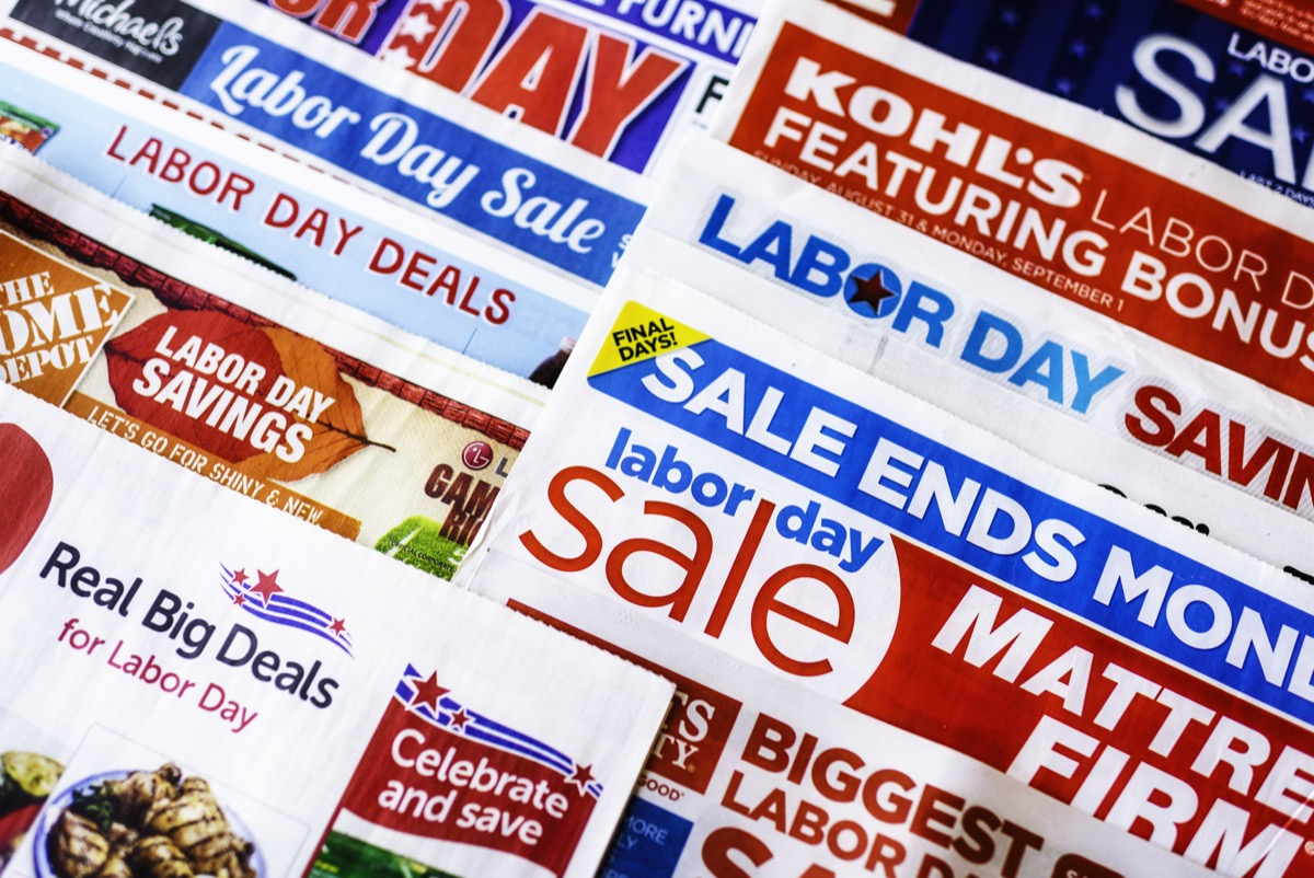 Labor Day sale ads and coupons