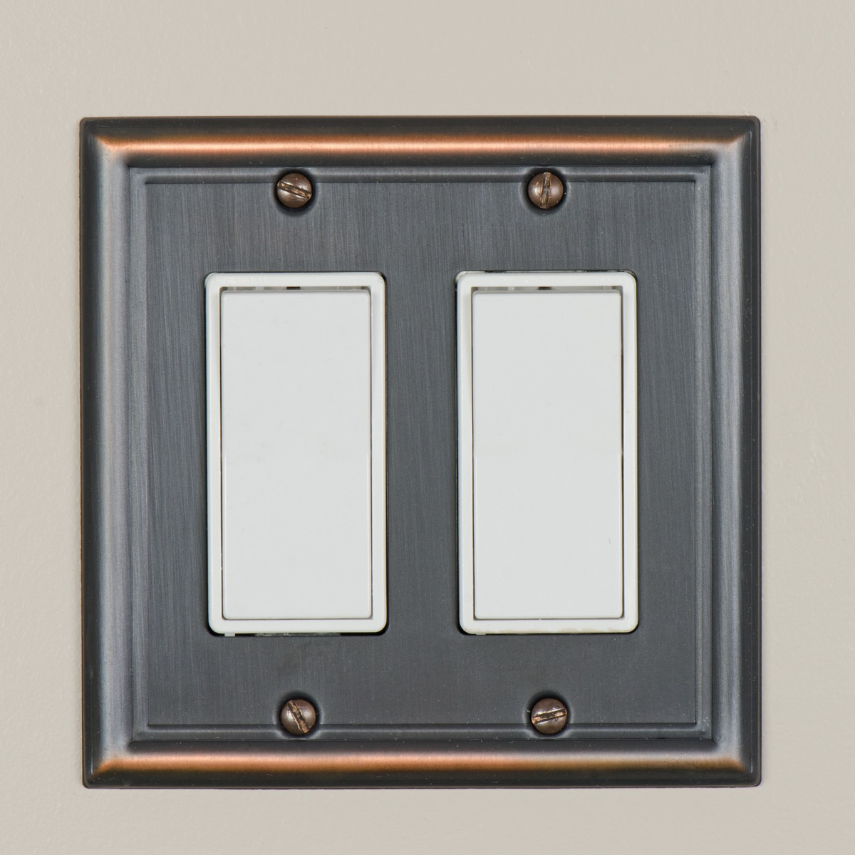 Stainless steel light switch plate
