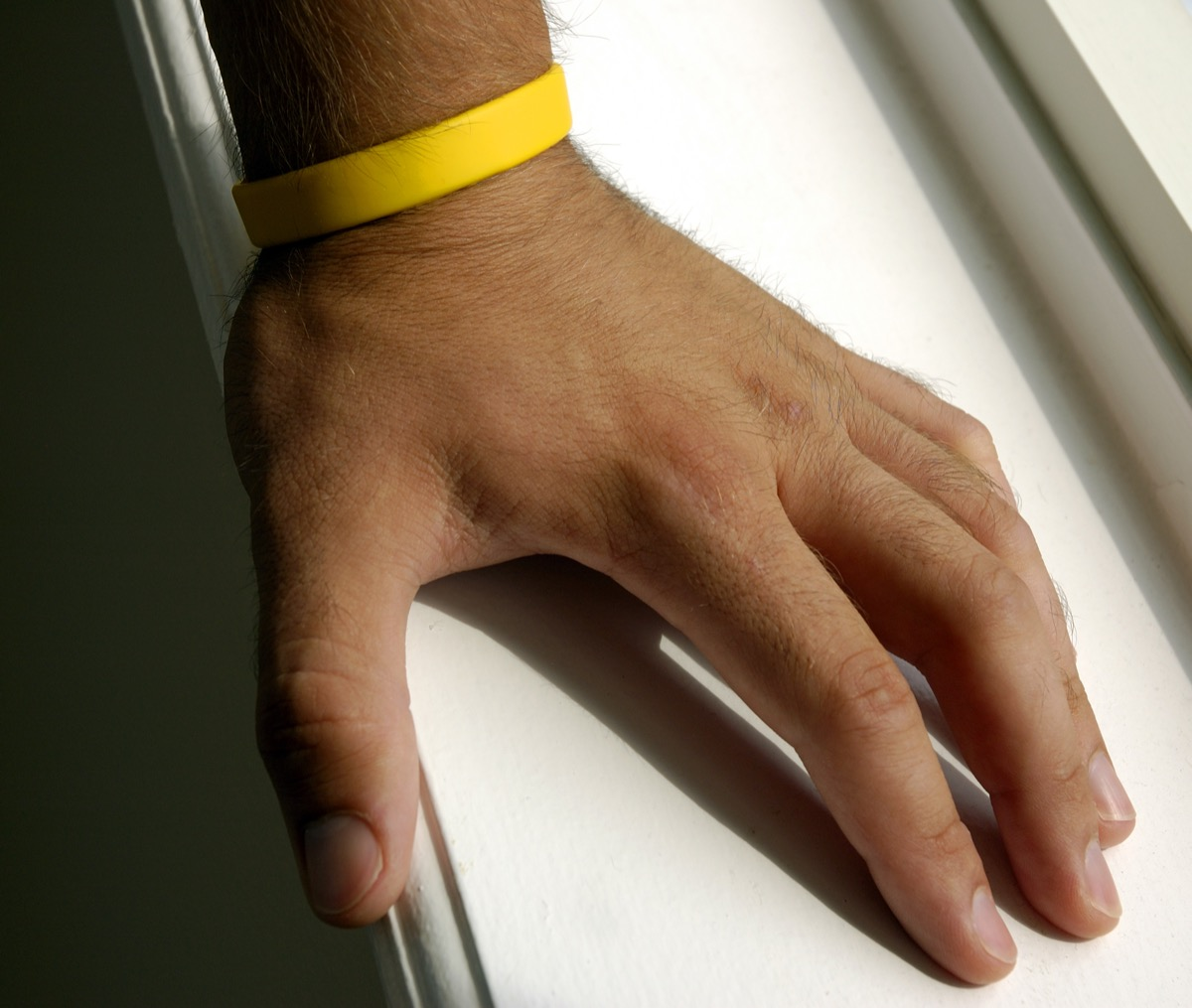 Yellow Wristband For Lance Armstrong Cancer Foundation - Image