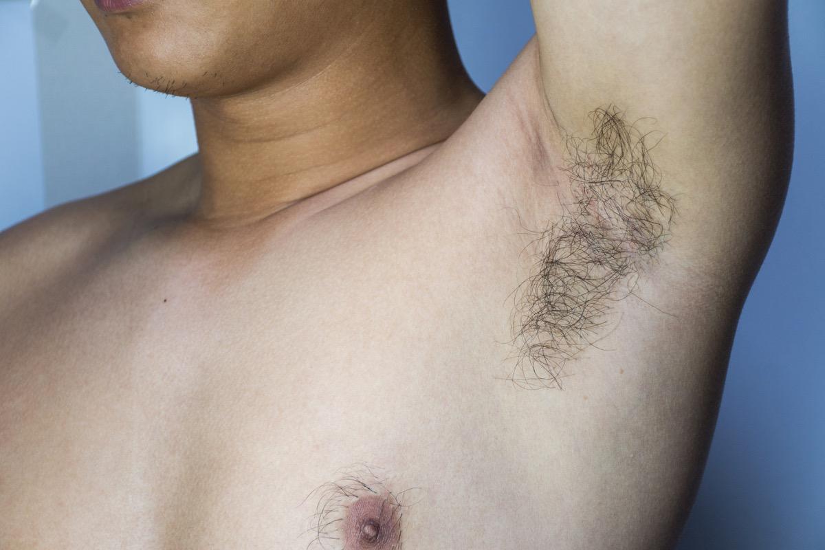 asian man's hairy armpit