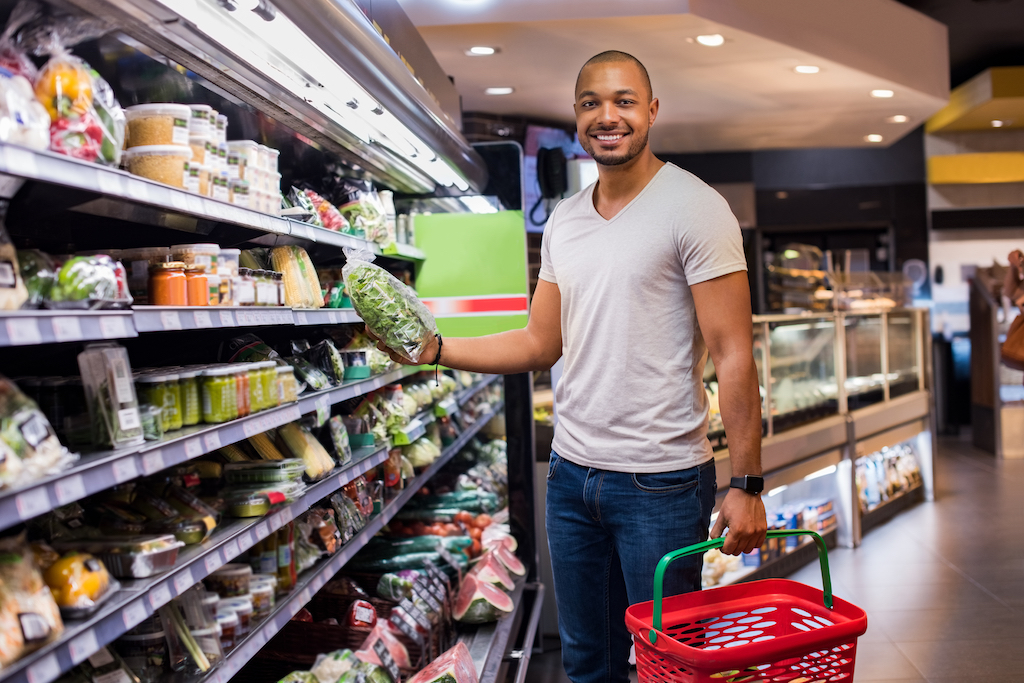 Man Buying Salad products you should always buy generic