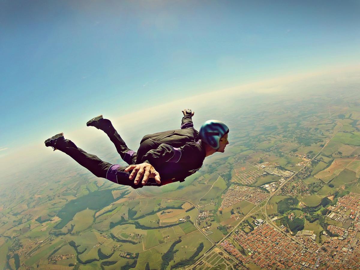 Man Skydiving {Risks You Should Take}