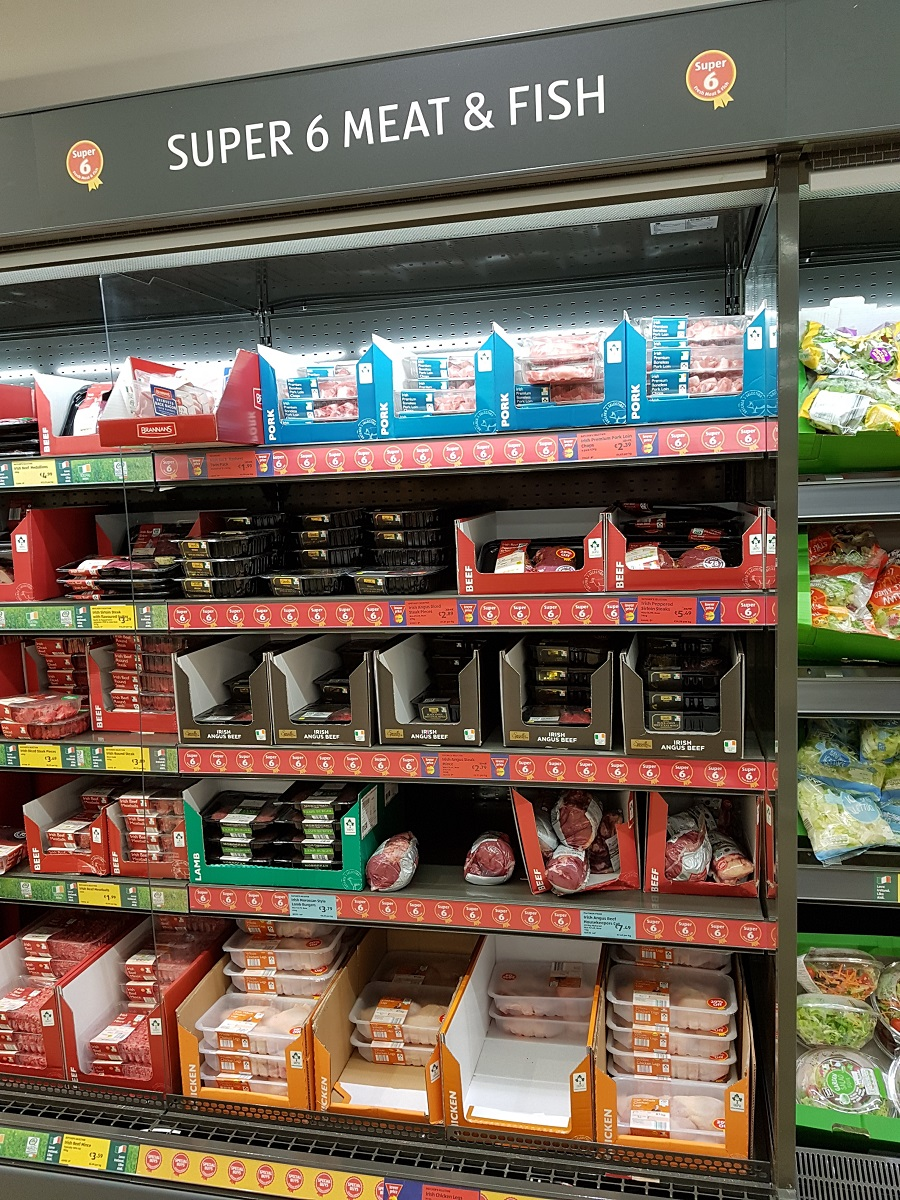 Meat section at Aldi shopping secrets