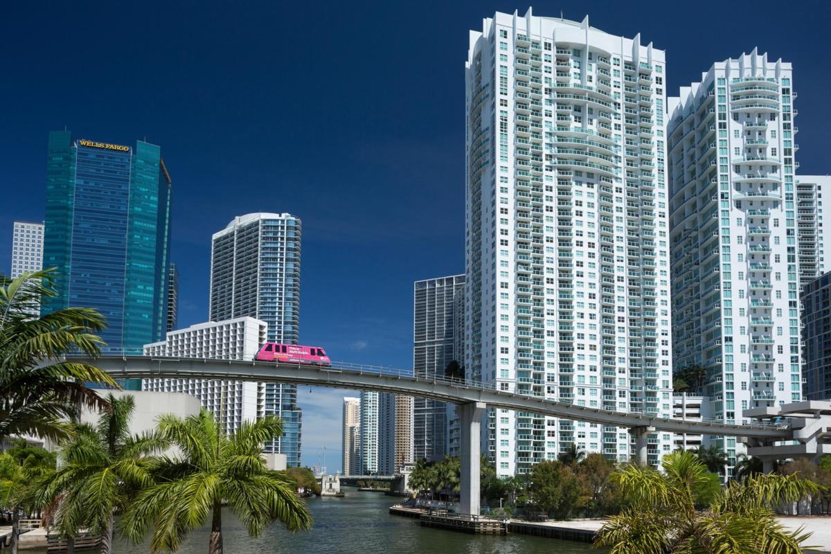 Metromover monorail over Miami River