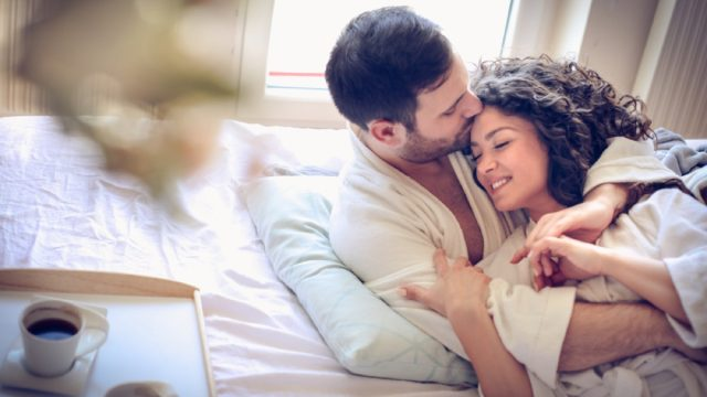 middle-aged couple in bed together, things husband should notice