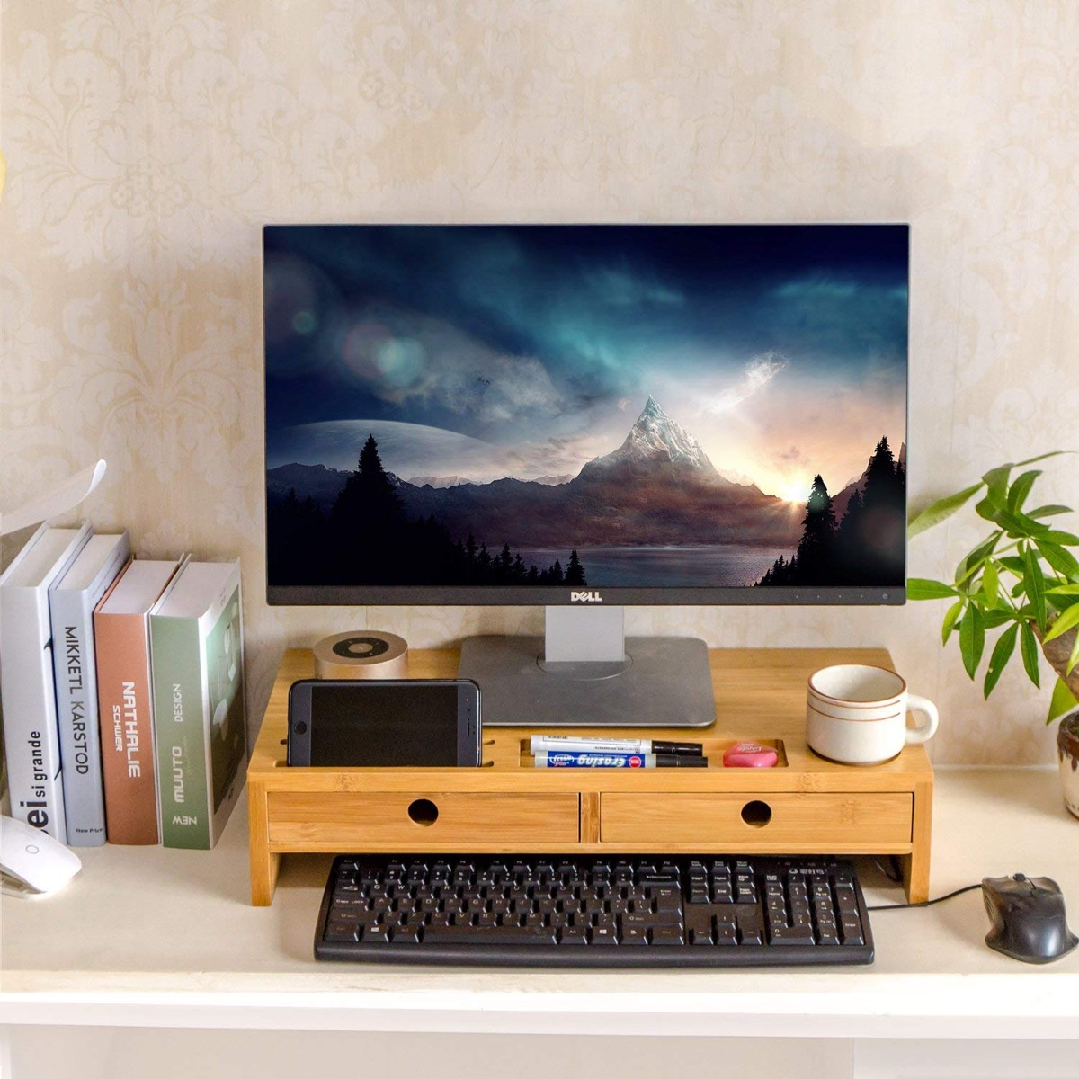 Monitor Stand with Storage {organizational products on amazon}