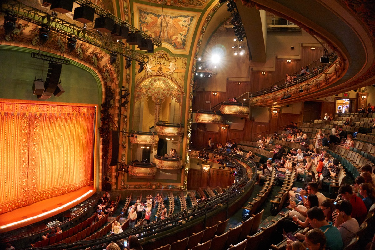new amsterdam theatre in new york on broadway where they perform Aladdin