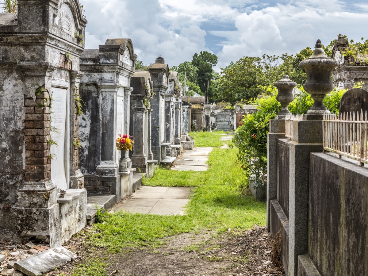 NEW ORLEANS, USA - JULY 16, 2013: Grave site at the Saint Louis Cemetery No 1. This Lafayette cemetery is the most famous in New Orleans. - Image