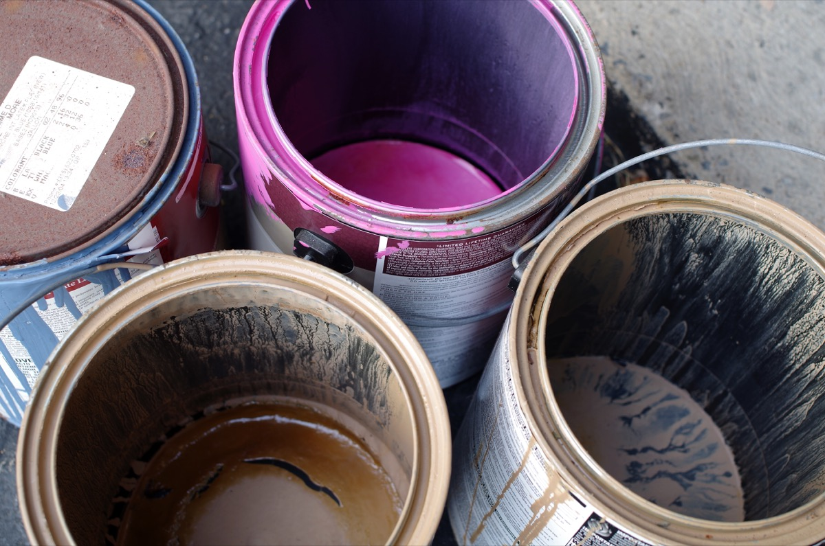 Old Cans of Paint {Get Rid of Old Stuff}