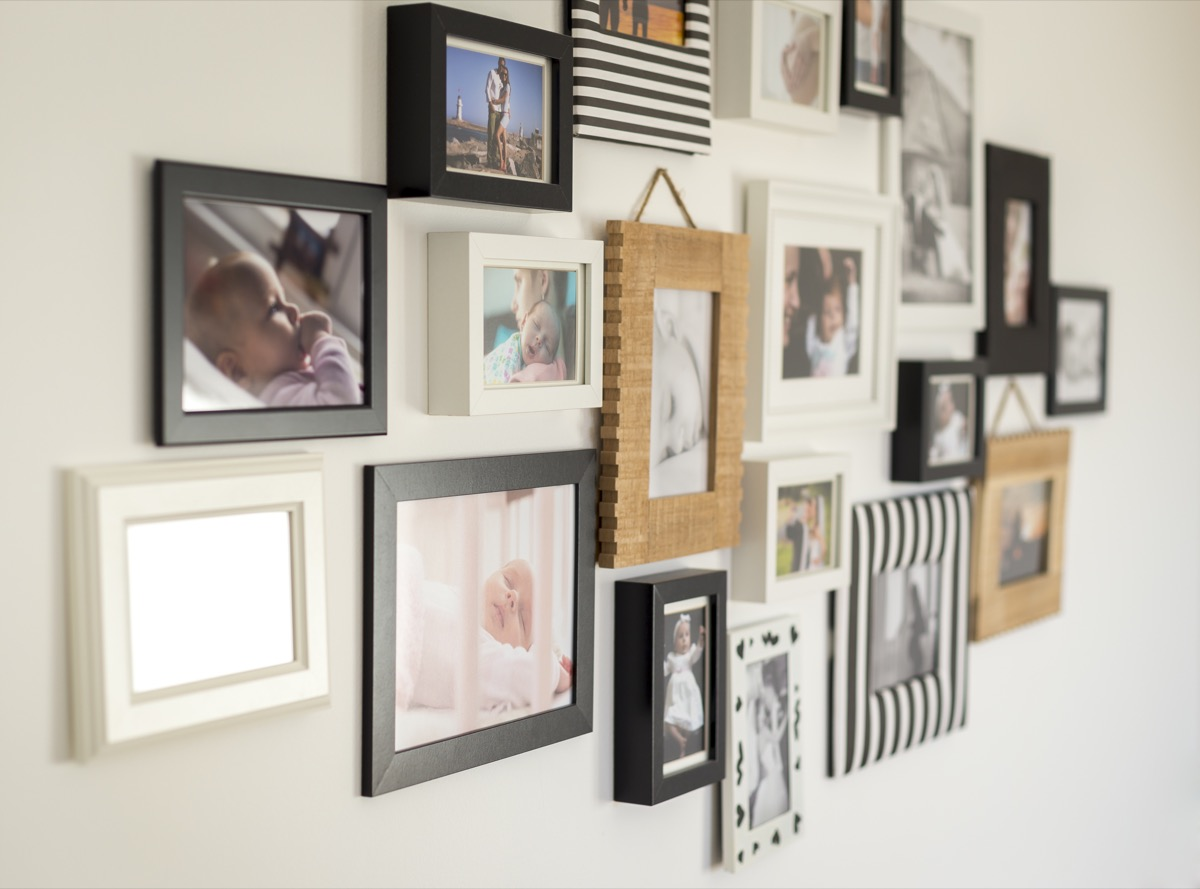 Photo wall picture frames
