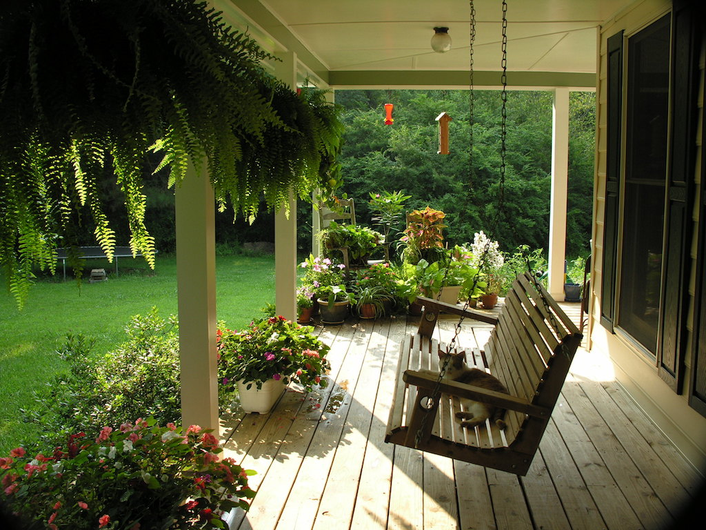 Porch swing tricks to make your home festive
