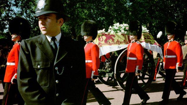 Princess Diana casket at the funeral