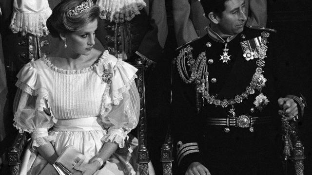 princess diana and prince charles at parliament opening november 1984