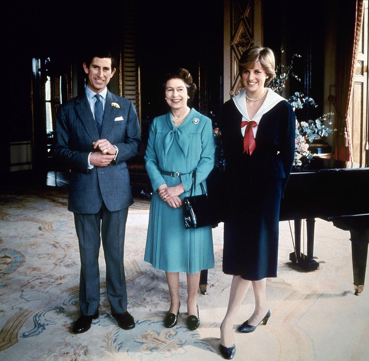 Prince Charles, Queen Elizabeth, Princess Diana