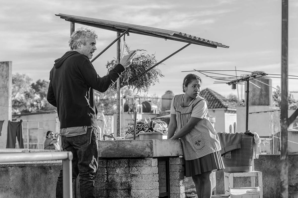 Alfonso Cuarón and Yalitza Aparicio in Roma (2018)