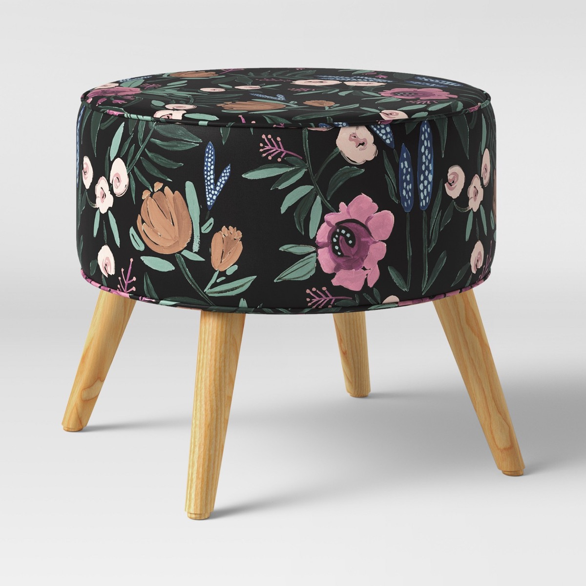 Round Floral Ottoman {Target Deals}