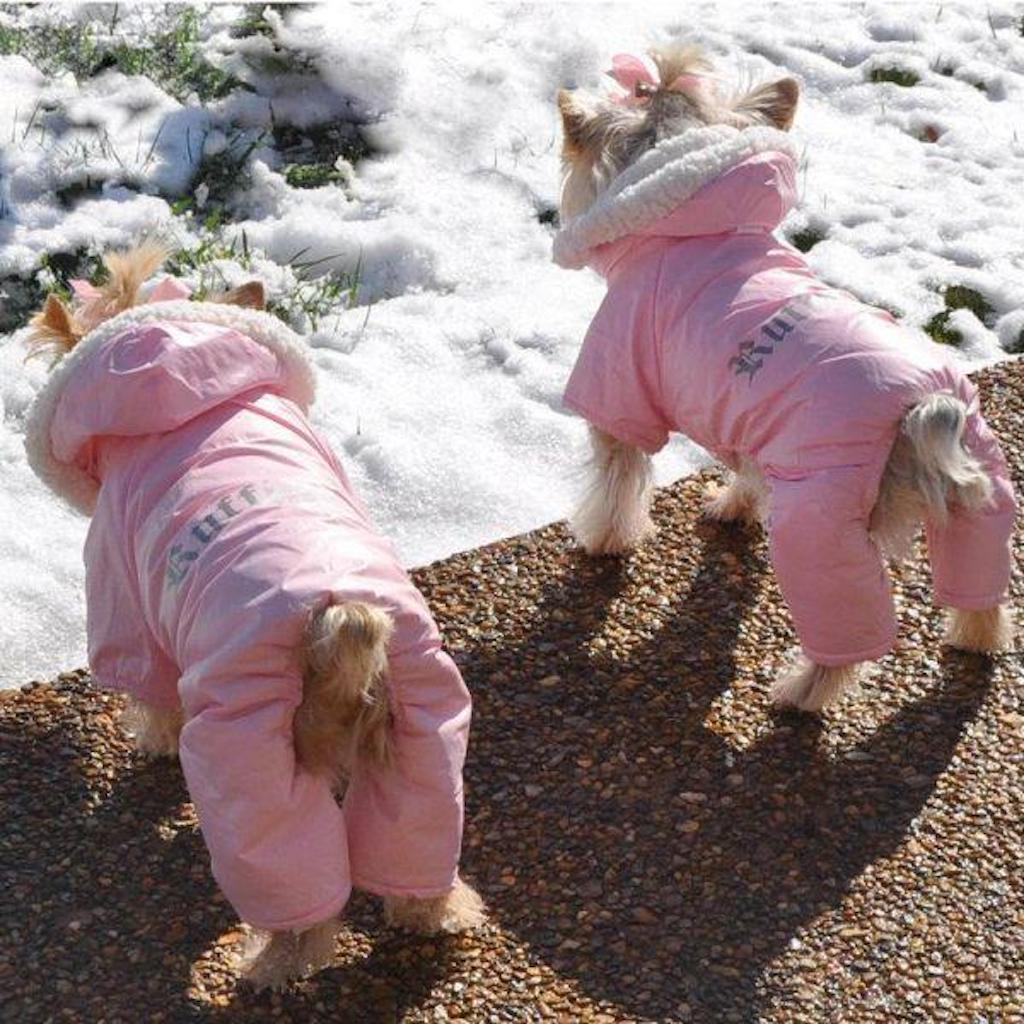Ruffin It Dog Snow Suit adorable dog outfits