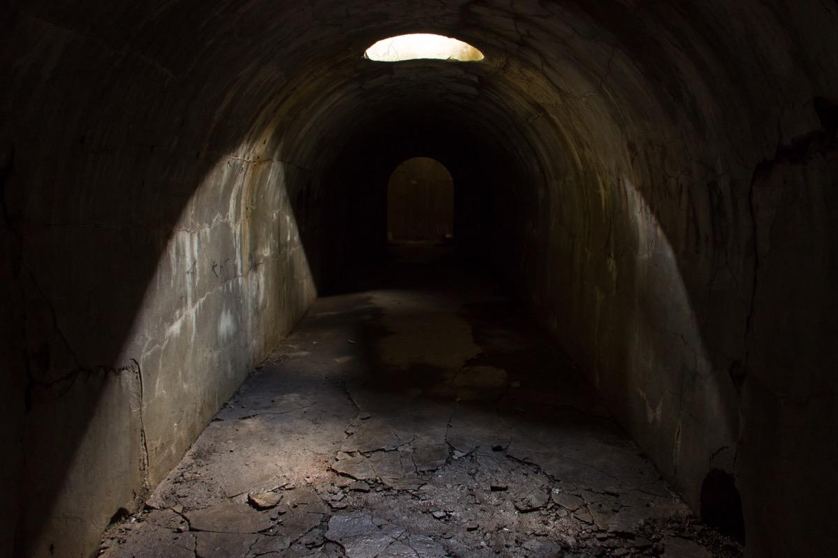 scary underground tunnel