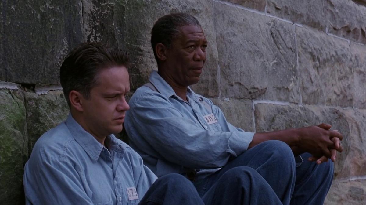 still of shawshank redemption movie featuring morgan freeman