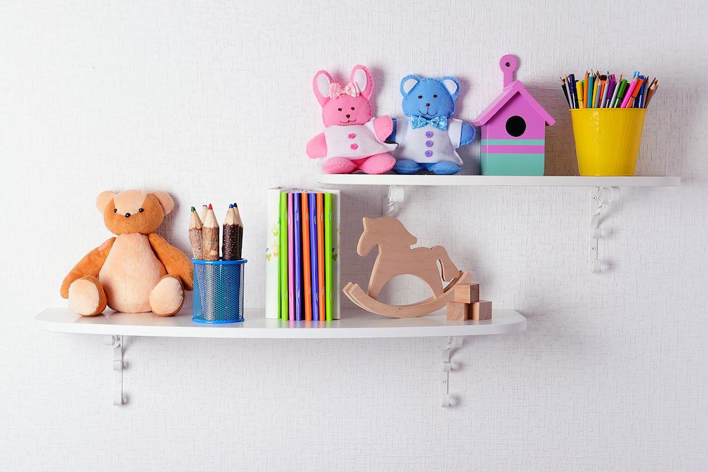 Shelves in Wall Tricks for hiding children's toys