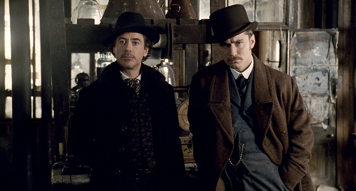 Jude Law and Robert Downey Jr. in Sherlock Holmes (2009)- best mystery movies