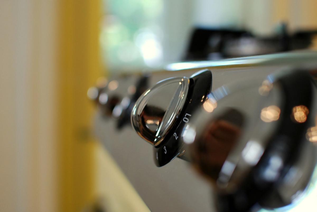 shiny knobs on a stove Home Hazards
