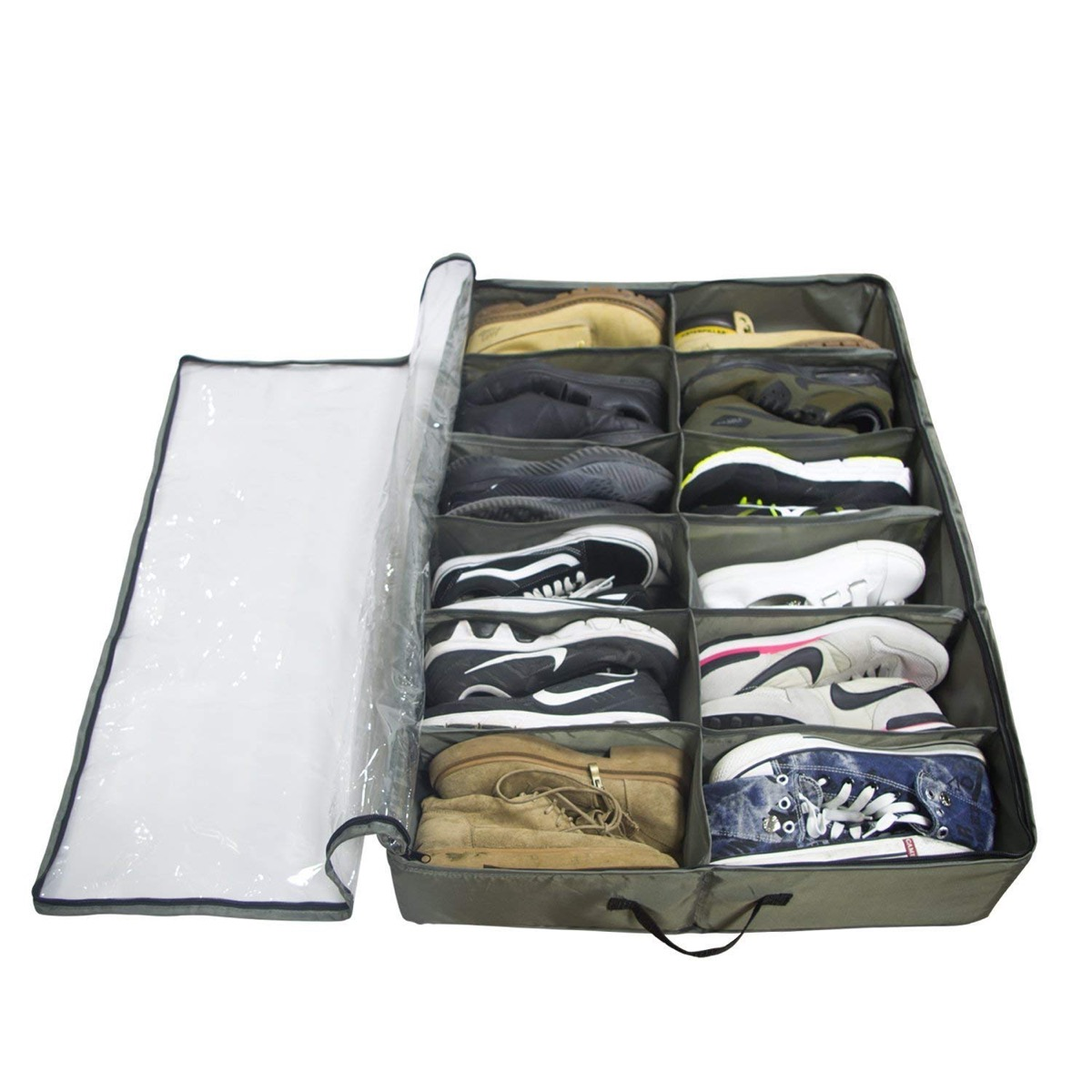 Under-the-bed shoe storage bin {organizational products on Amazon}