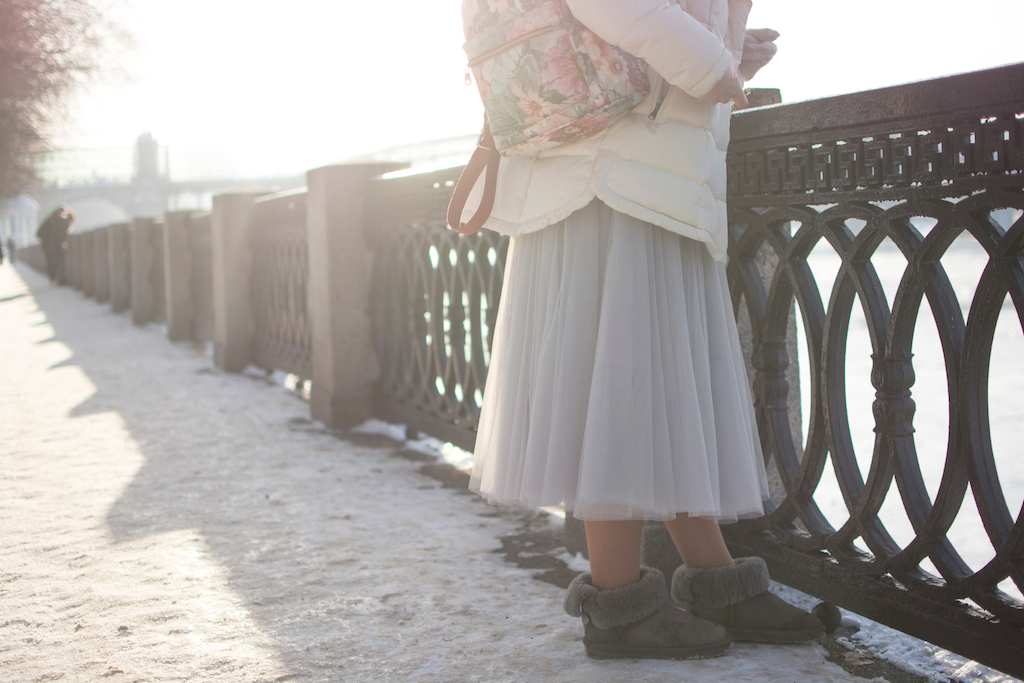 uggs with skirt