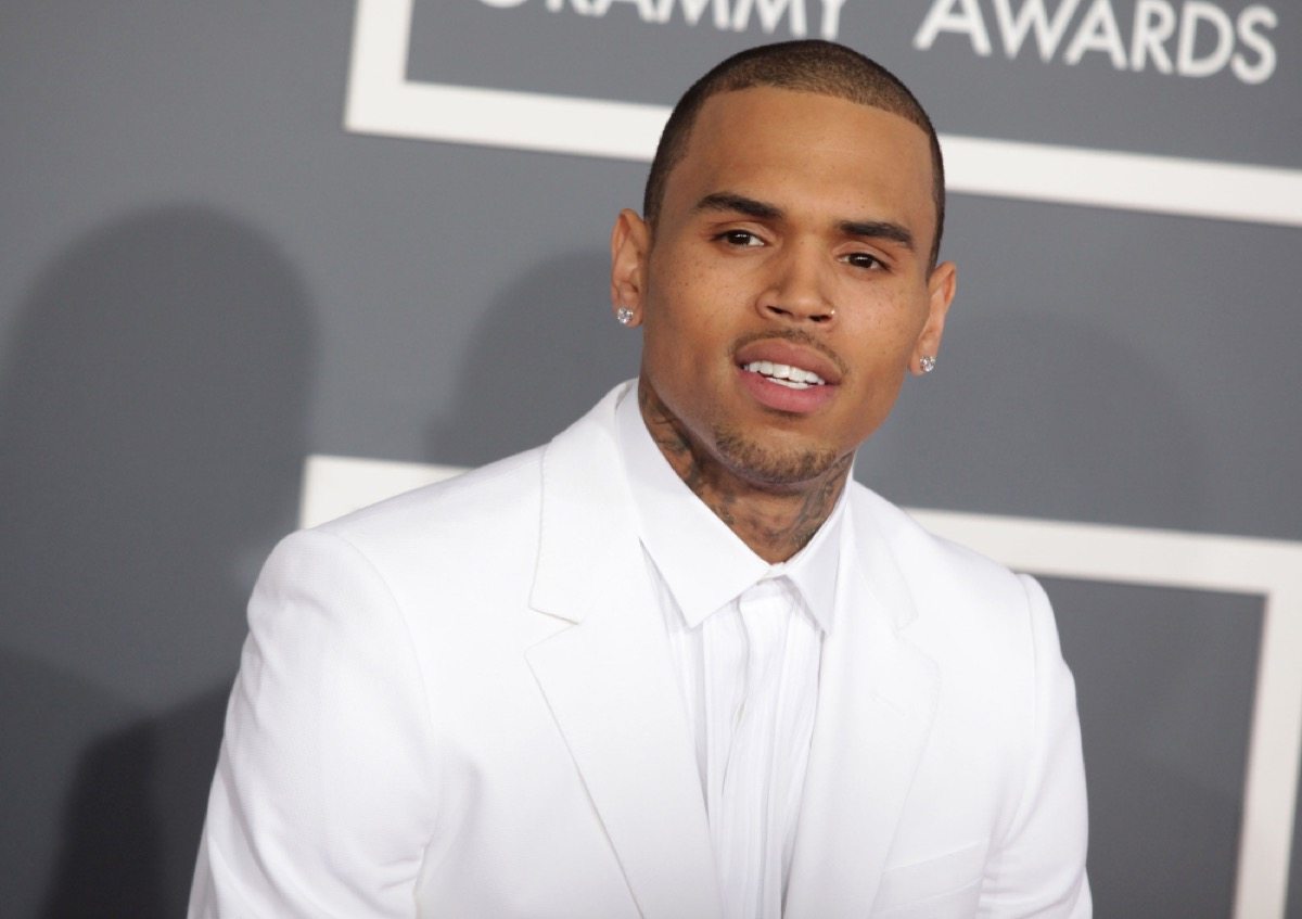 chris brown on the red carpet