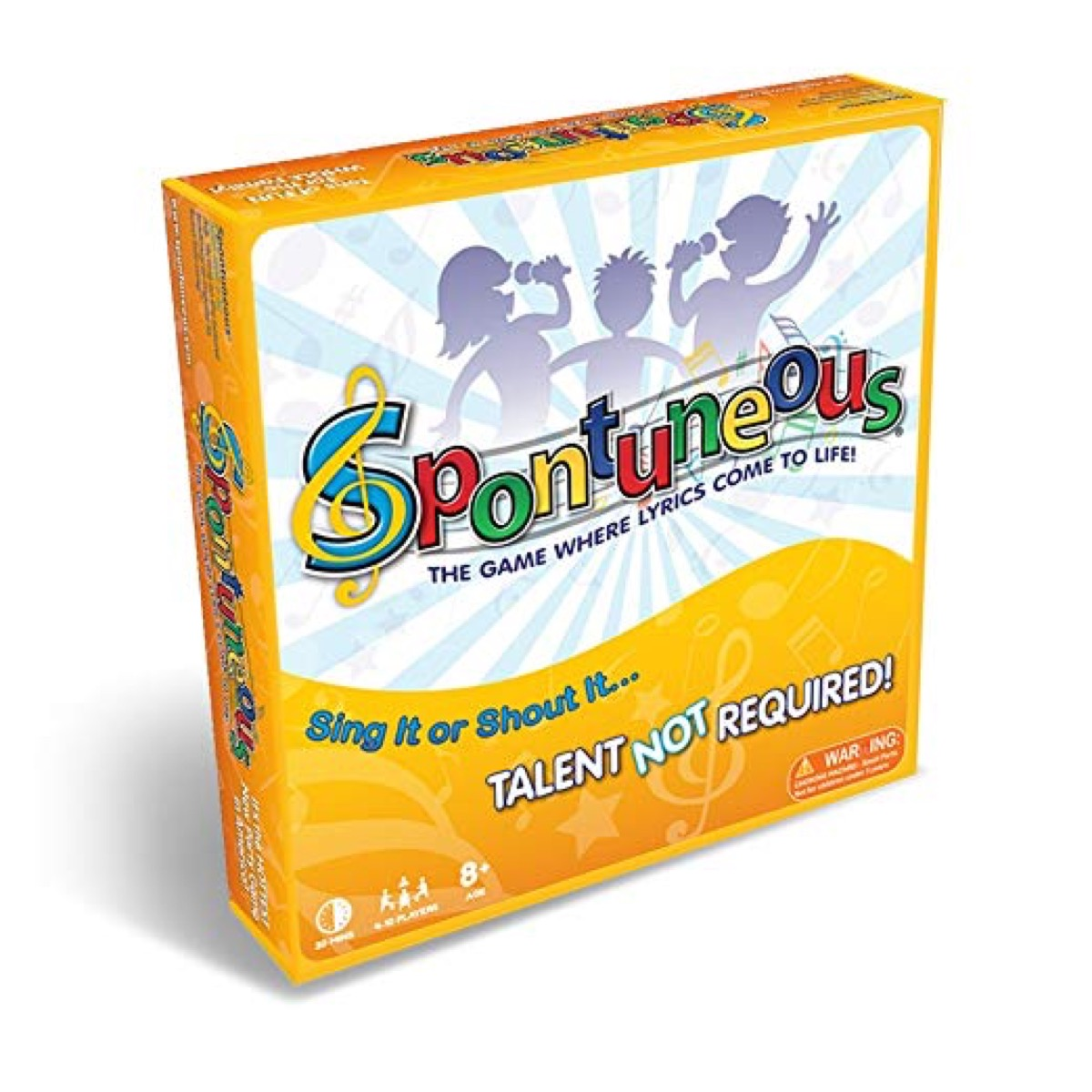 Spontuneous - The Song Game - Sing It or Shout It - Talent NOT Required (Best Family / Party Board Games for Kids, Teens, Adults - Boy & Girls Ages 8 & Up),Yellow from Amazon