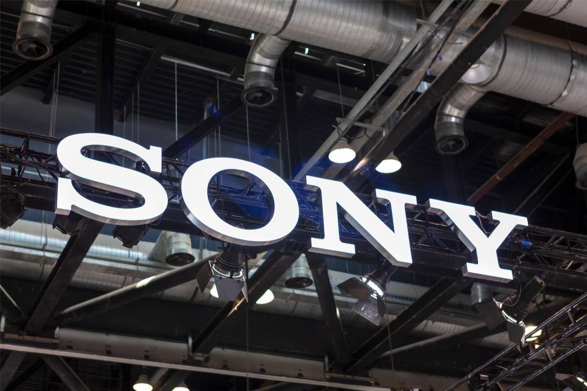 sony brand logo sign, original brand names