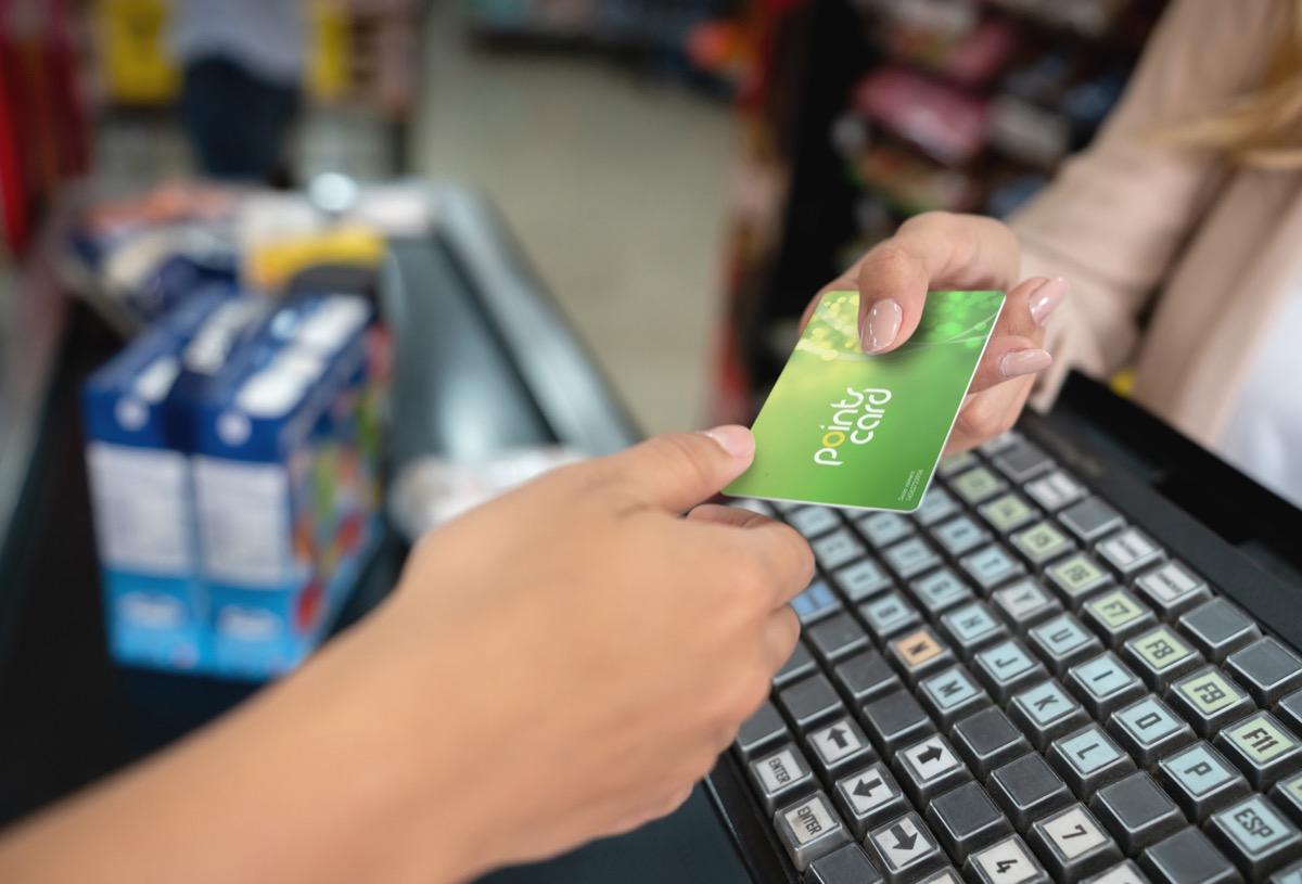 rewards loyalty card at store