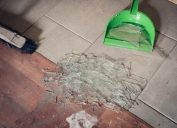 Person Sweeping Up Broken Glass {Get Rid of Old Stuff}