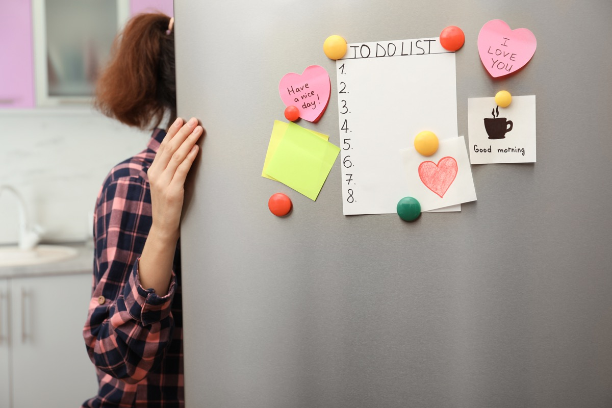to-do list on refrigerator exercises for mental health