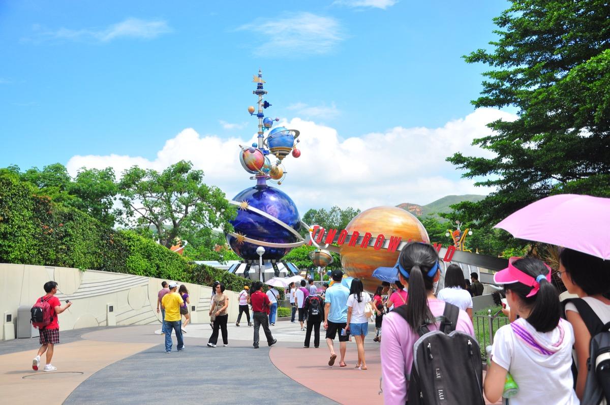 omorrow Land zone in Disneyland Hong Kong. Hong Kong island, China. 30 July 2011