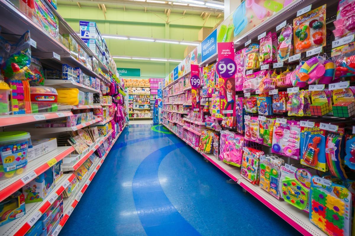 Empty toy store