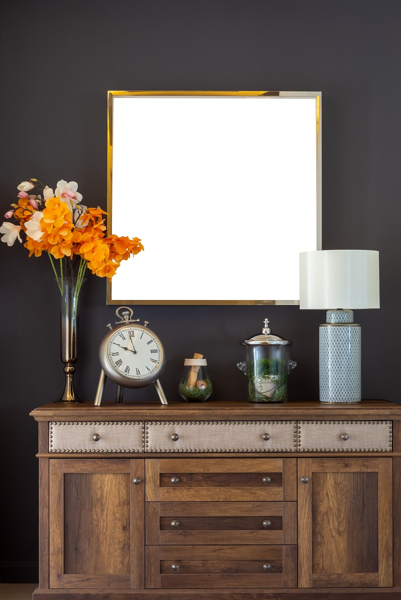 Vintage cabinet in home Affordable ways to remodel your home