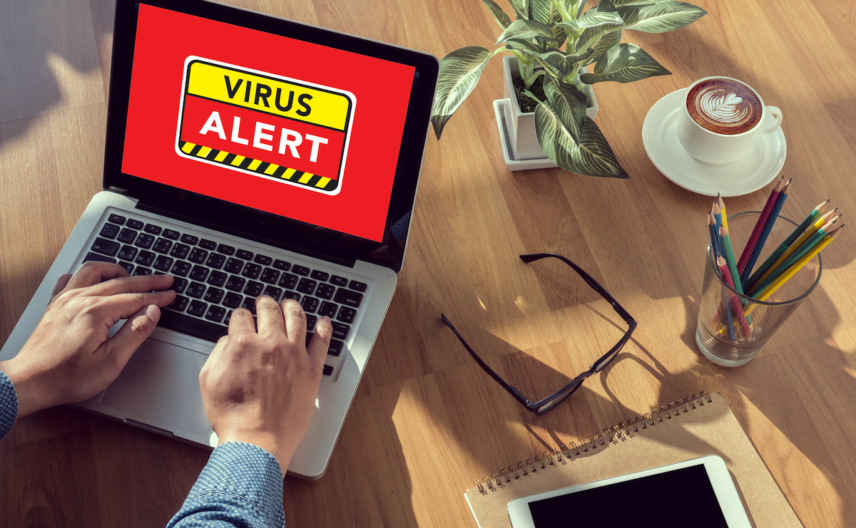 Virus on computer new words