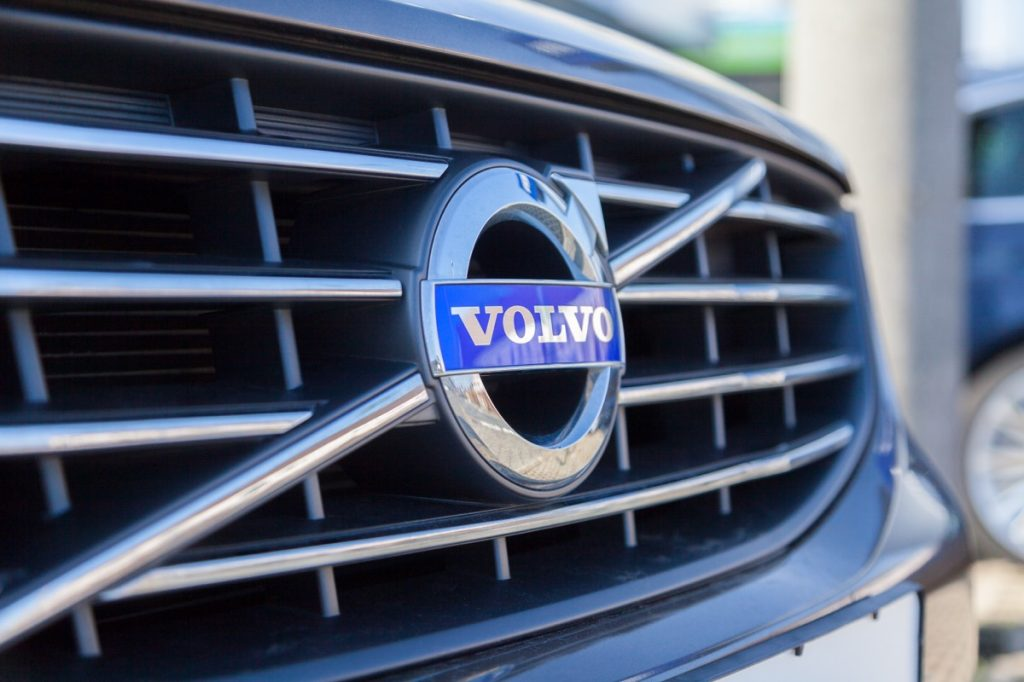 Volvo logo on front grill