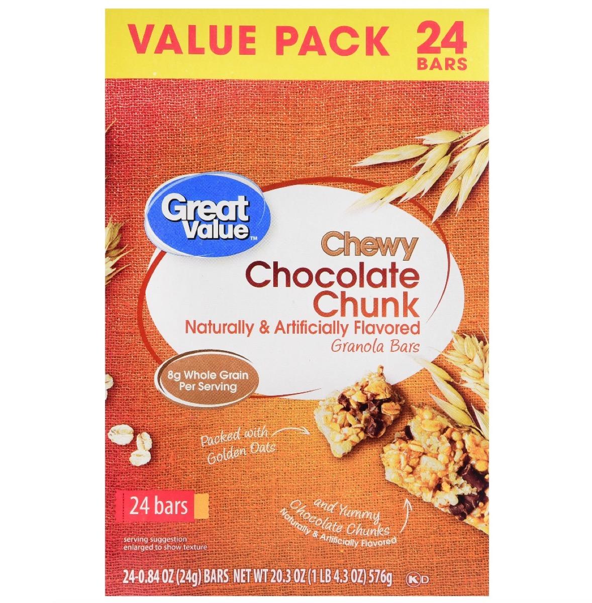 Walmart Great Value Granola Bars