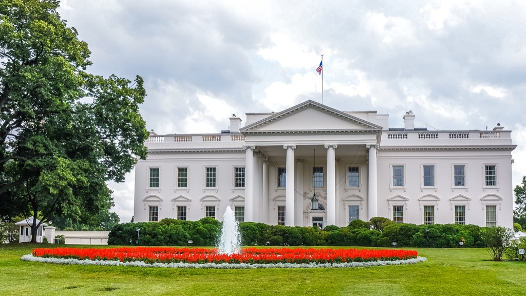 white house on a cloudy day