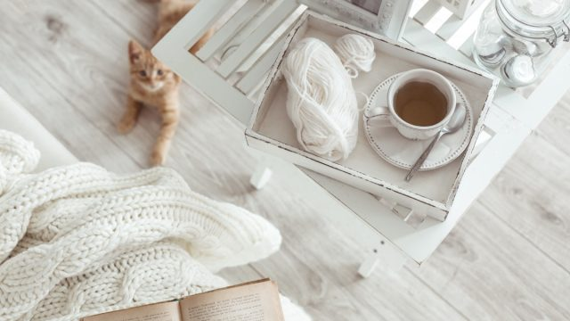 Cozy Winter Living Room WITH A CAT {Target Winter Essentials}